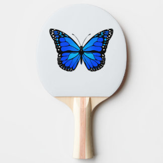 Blue butterfly Ping-Pong paddle