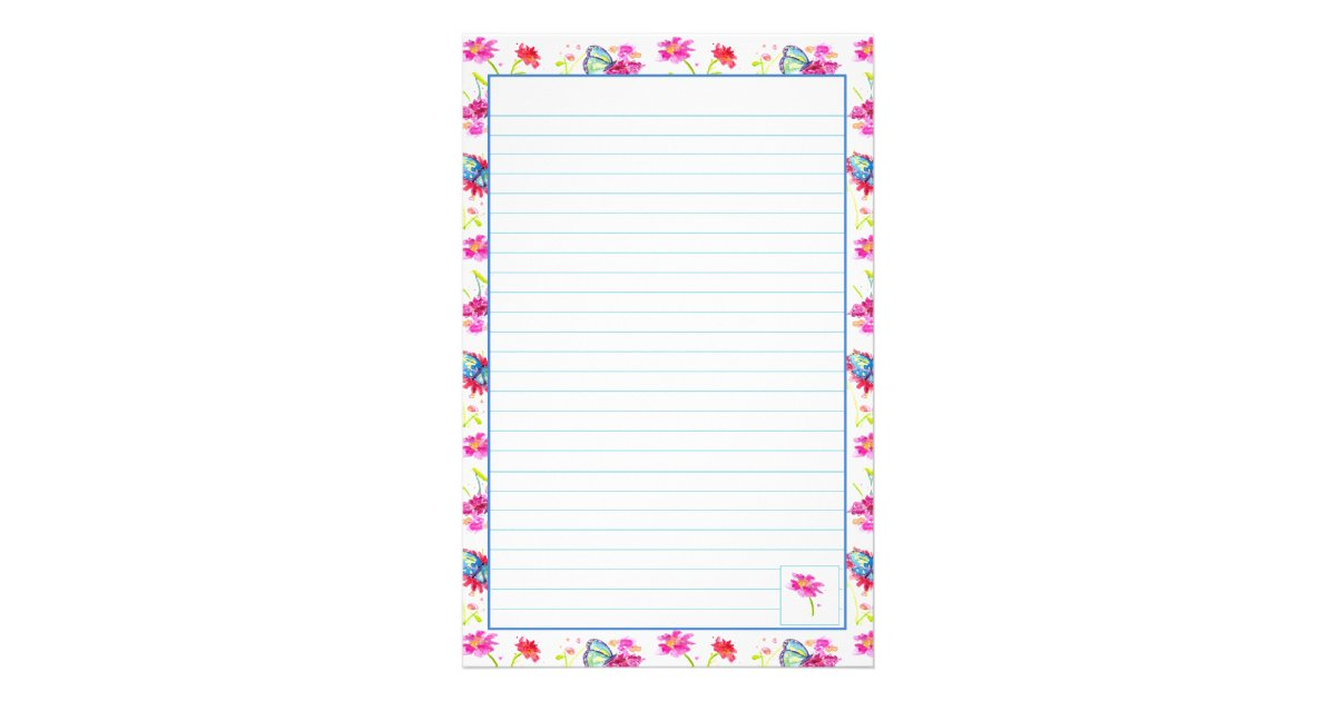Lined paper for letter writing