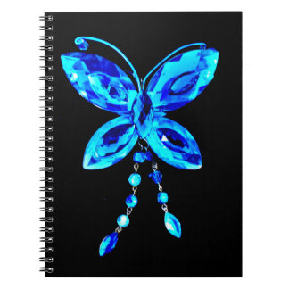 Blue Butterfly Prism Notebooks