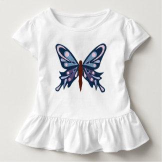 'Blue Butterfly' Ruffle T-Shirt