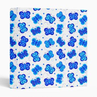 "Blue Butterfly Social 1"" Binder"