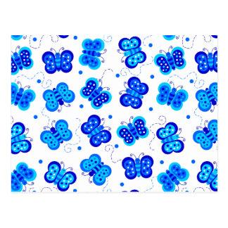 Blue Butterfly Social Postcard