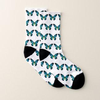 Blue Butterfly Socks 1