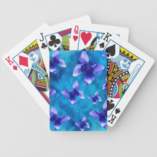 Blue Butterfly Summer. Bicycle Playing Cards