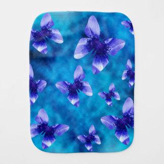 Blue Butterfly Summer. Burp Cloth