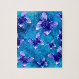 Blue Butterfly Summer. Jigsaw Puzzle