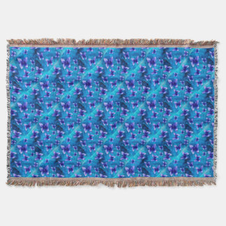 Blue Butterfly Summer. Throw Blanket