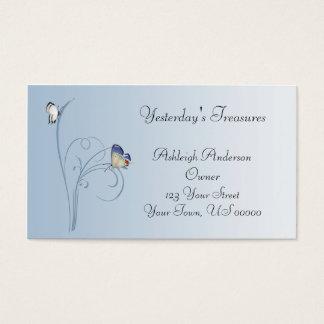 Blue Butterfly Swirls Business Card