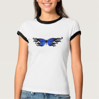 Blue Butterfly T-Shirt Customizable