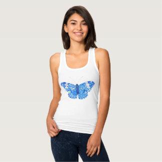 Blue butterfly tank top