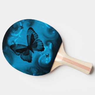 blue butterfly vector art ping pong paddle
