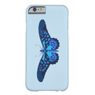 Blue butterfly with baby blue background barely there iPhone 6 case