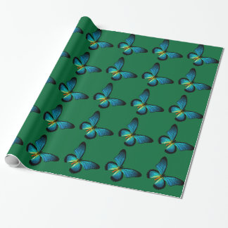 Blue Butterfly Wrapping Paper