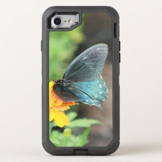Blue Butterfly Yellow Coreopsis Summer Otterbox OtterBox Defender iPhone 8/7 Case