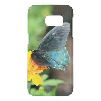 Blue Butterfly Yellow Coreopsis Summer Products Samsung Galaxy S7 Case