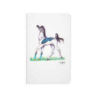 Blue Butterfly Zebra Horse Dancing Cute Journal