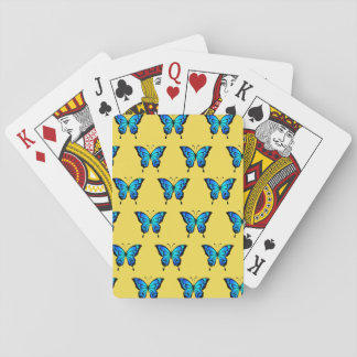 Blue Butterflys by storeman. Playing Cards