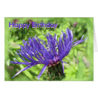 Blue button-Happy Birthday Card