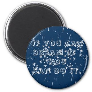 blue button magnet