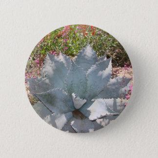 Blue cactus 2 inch round button