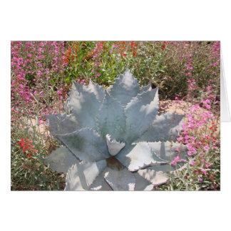 Blue cactus card