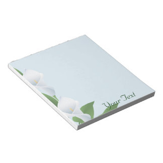 Blue Cala Lilies Notepad
