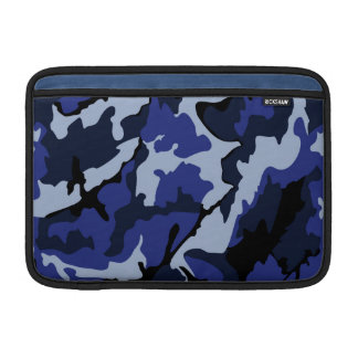 "Blue Camo, 11"" Horizontal Sleeve For MacBook Air"