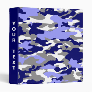 Blue Camo 3 Ring Binders