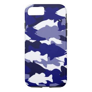 Blue Camo Bass Fishing iPhone 8/7 Case