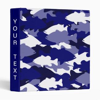 Blue Camo Bass Fishing Vinyl Binders