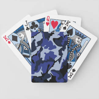 Blue Camo, Bicycle Playing Cards
