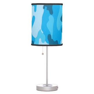 Blue Camo Boy's bedroom or baby nursery lamp