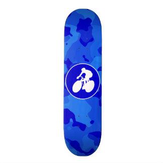 Blue Camo Camouflage Cycling Custom Skateboard
