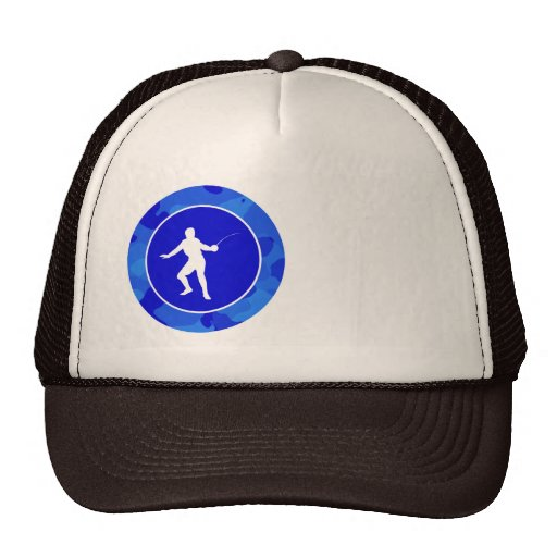 Blue Camo; Camouflage Fencing Mesh Hats