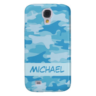 Blue Camo Camouflage Name Personalized