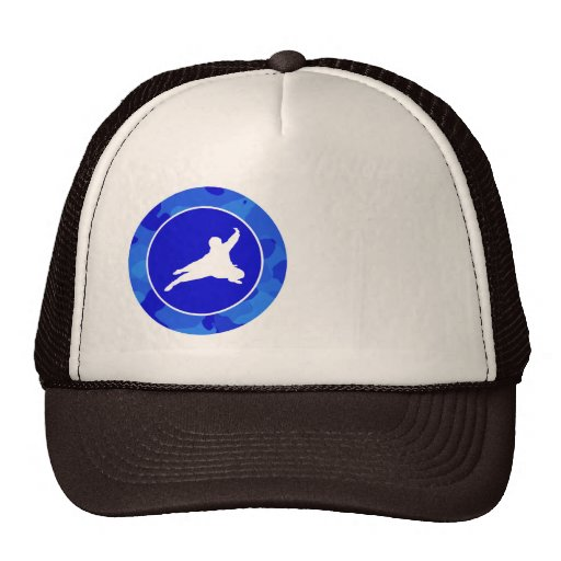 Blue Camo; Camouflage Ninja Mesh Hats