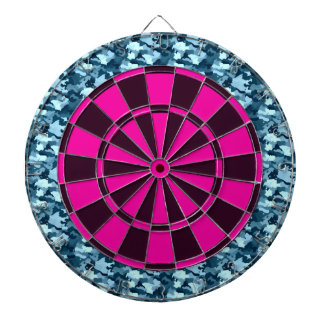 Blue Camo Dartboard