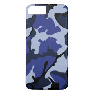 Blue Camo, iPhone 7 Plus Barely There Case