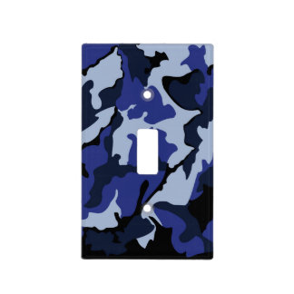 Blue Camo Light Switch Cover