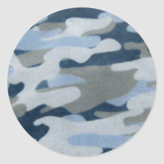 Blue Camo Look Sticker
