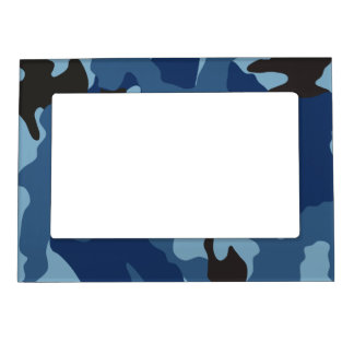 Blue Camo Military Magnetic Picture Frame