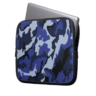 "Blue Camo, Neoprene 10"" Laptop Computer Sleeve"