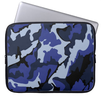 "Blue Camo, Neoprene 15"" Protective Laptop Sleeve"