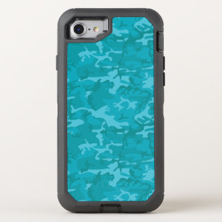 Blue Camo OtterBox Defender iPhone 8/7 Case