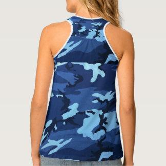 Blue Camo Tank Top
