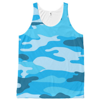 Blue Camo tank top, camouflage shirt