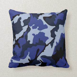 Blue Camo, Throw Pillow