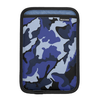 Blue Camo, Vertical Sleeve For iPad Mini