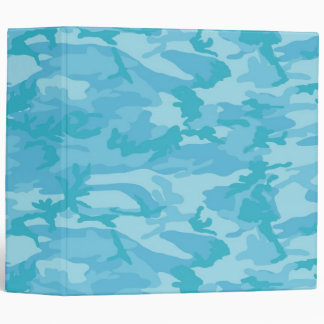 Blue Camo Vinyl Binder