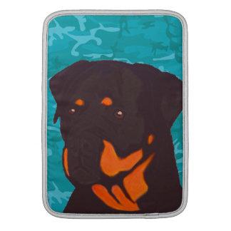 Blue Camo with Rottweiler MacBook Air Sleeve